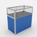 Прилавок прямоугольный остекленный на 1/3 ПП-1000/1