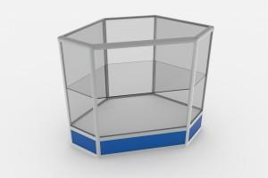 Прилавок прямоугольный остекленный на 1-3