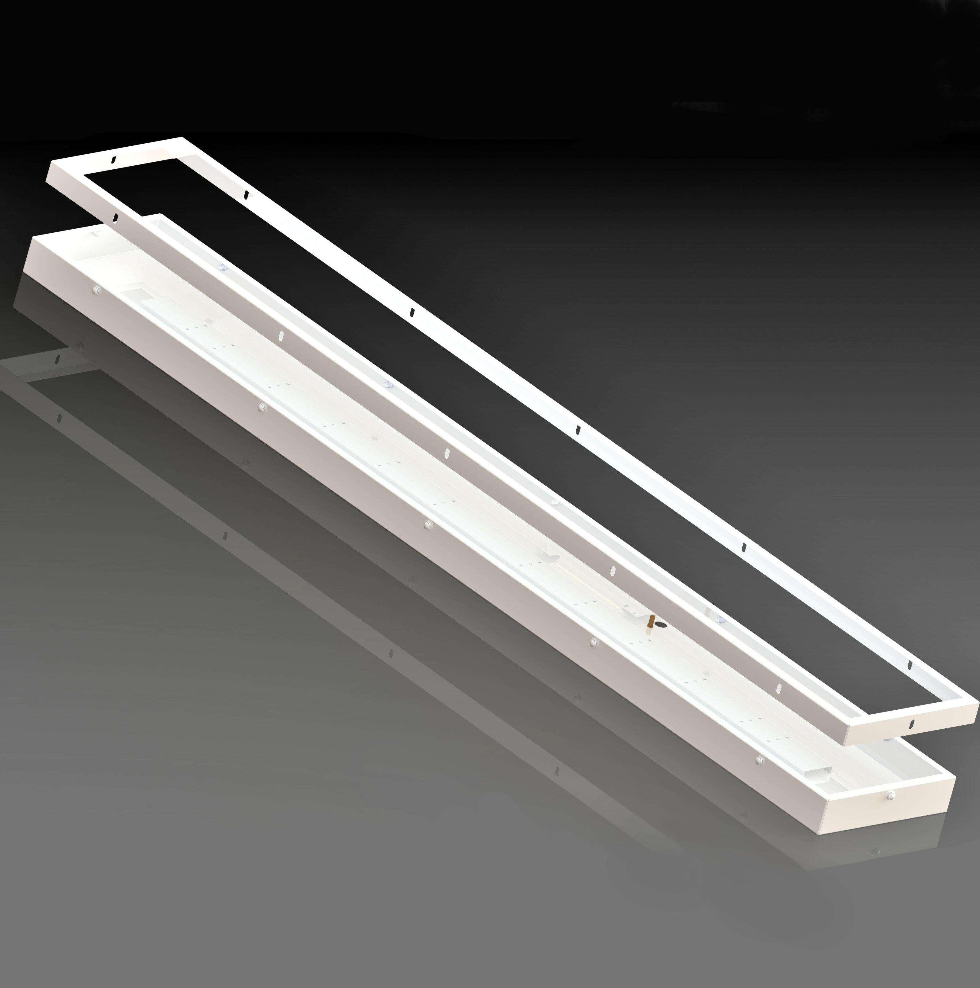 Корпус потолочного светодиодного светильника ФОРСАЖ-АРМСТРОНГ-МАКСИ пылевлагозащищенный вид2