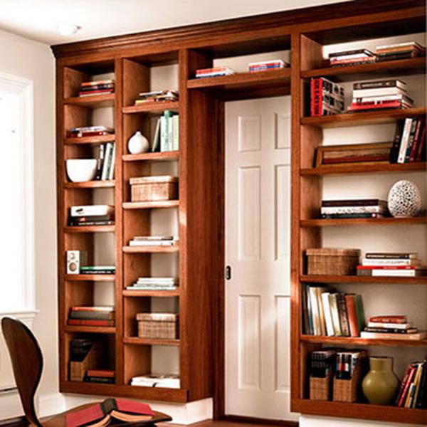 Полка для книг своими руками из дерева фото