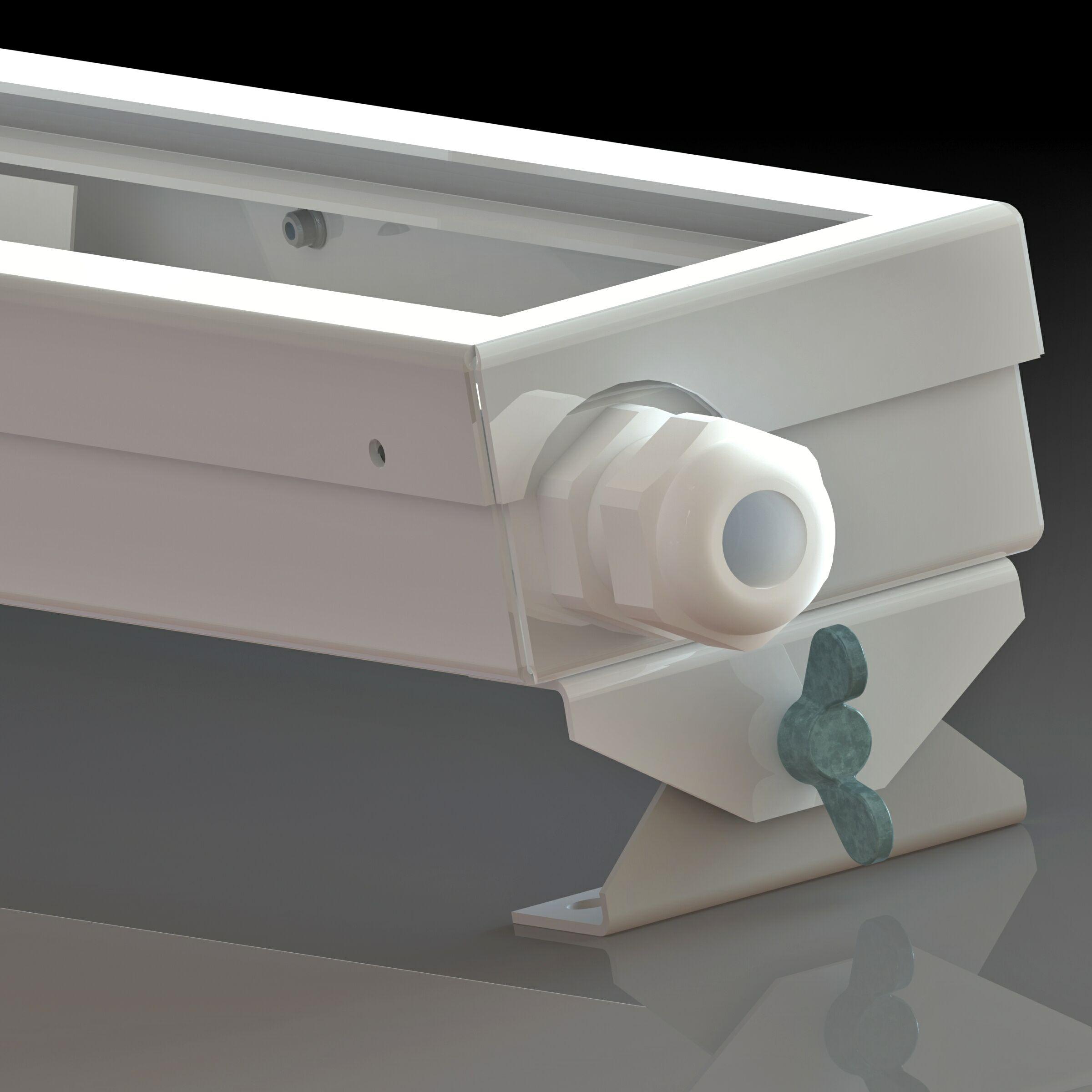 Корпус светодиодного канавного светильника кабельный ввод