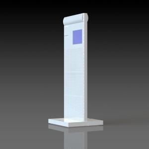 Стеллаж перфорированный двусторонний с мониторами вид 01