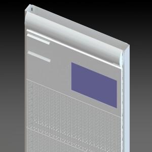 Стеллаж перфорированный двусторонний с мониторами вид 02