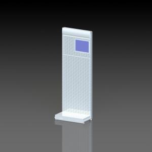 Стеллаж перфорированный пристенный с монитором вид 01
