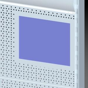 Стеллаж перфорированный пристенный с монитором вид 02