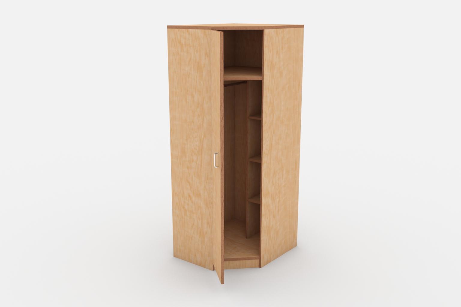 Угловой шкаф для одежды.