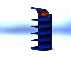 Стеллаж ФСТ 007 Универсальный пристенный, со световым коробом 1000х2000х600