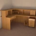 Стол компьютерный угловой. Мебель для офиса.