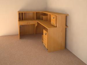 Мебель для офиса. Компьютерный стол угловой.