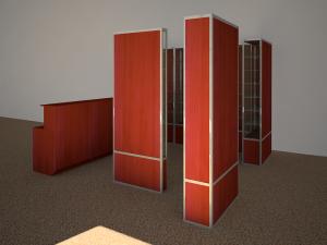 торговые витрины для  салона связи
