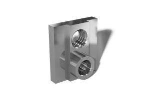 Фрезеровка металла. Ответная часть петли для стеклянных витрин алюминивая.