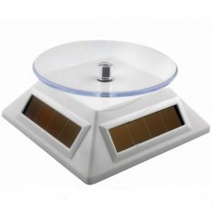 вращающаяся подставка на солнечных батареях тип 2.  белая