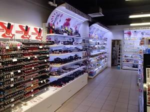 Торговые стеллажи для магазина косметики
