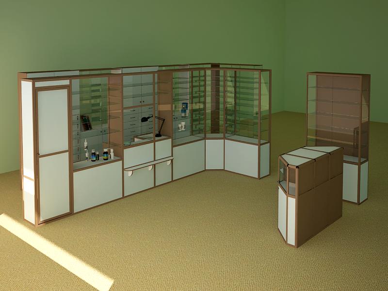 Торговые витрины и оборудование для аптек