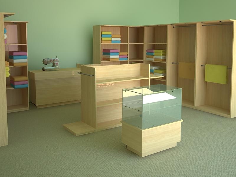 Мебель для швейного магазина
