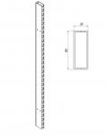 Штатив двухсторонний торцевой 80x30 с отверстиями для крепления балки