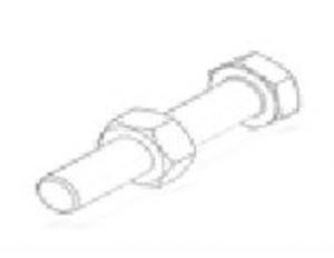 Болт М6 с гайкой для стеллажей