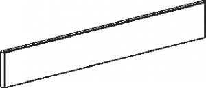 Плинтус угловой наружный