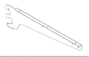 Держатель полки для стекла/ДСП трехзацепный правый