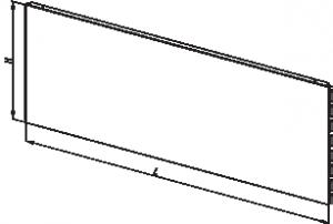 задняя стенка для торгового стеллажа