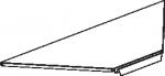 Полка для стеллажей угловая внутренняя/