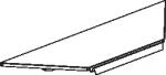 Полка для торгового стеллажа, угловая, внутренняя. 1 ребро жесткости