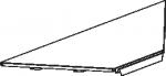 Полка угловая внутренняя 2 ребра жесткости