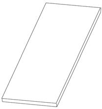Полка из ДСП (ДСП=16 мм)