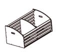 Хлебный стеллаж. Полка накопитель для хлеба деревянный с перегородкой