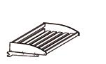 Хлебные стеллажи. Полка хлебная деревянная в комплекте с держателями (прямоугольные планки)