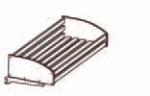Полка хлебная деревянная в ком- плекте с держателями (прямоугольные планки)
