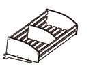 Хлебные стеллажи. Полка хлебная деревянная с перегородкой в комплекте с держателями (прямоугольные планки)