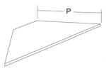 Полка для торгового стеллажа, базовая из ДСП угловая, наружная (ДСП=16мм)