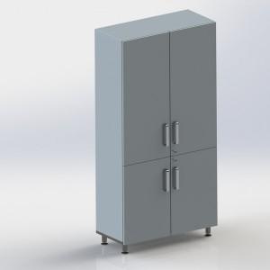 Шкаф металлический двухстворчатый ФМ104 00 000