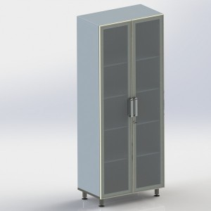 Шкаф металлический двухстворчатый ФМ108 00 000