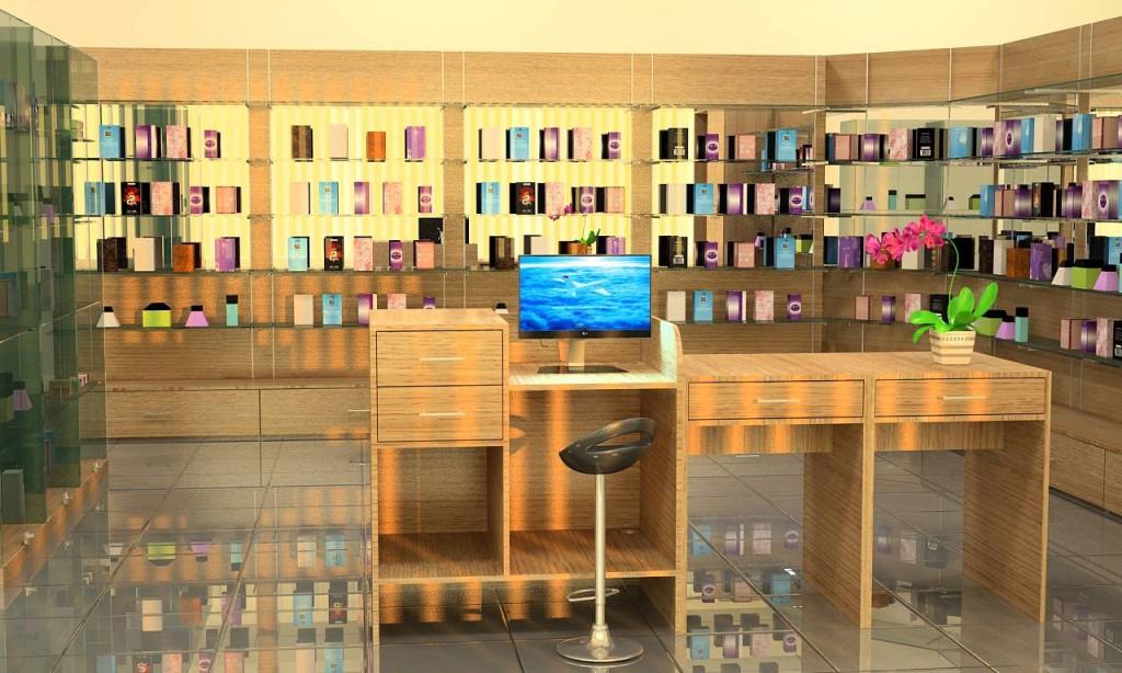 Торговое оборудование для магазина косметики и парфюмерии