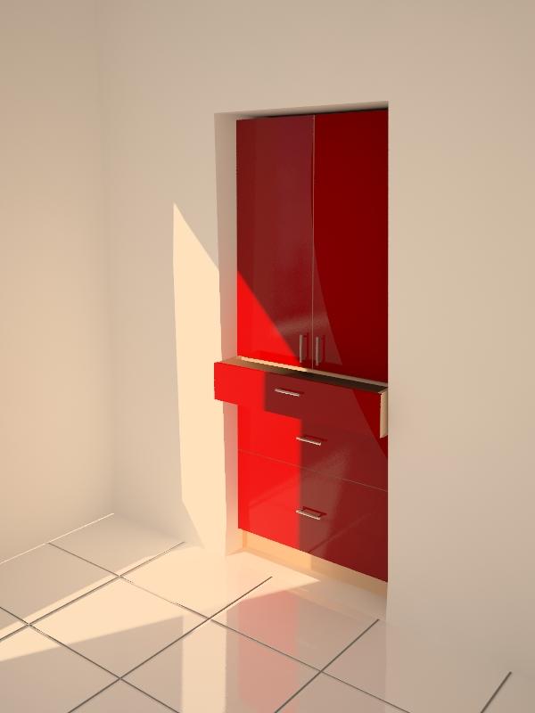 Распашной шкаф встроенный в нишу