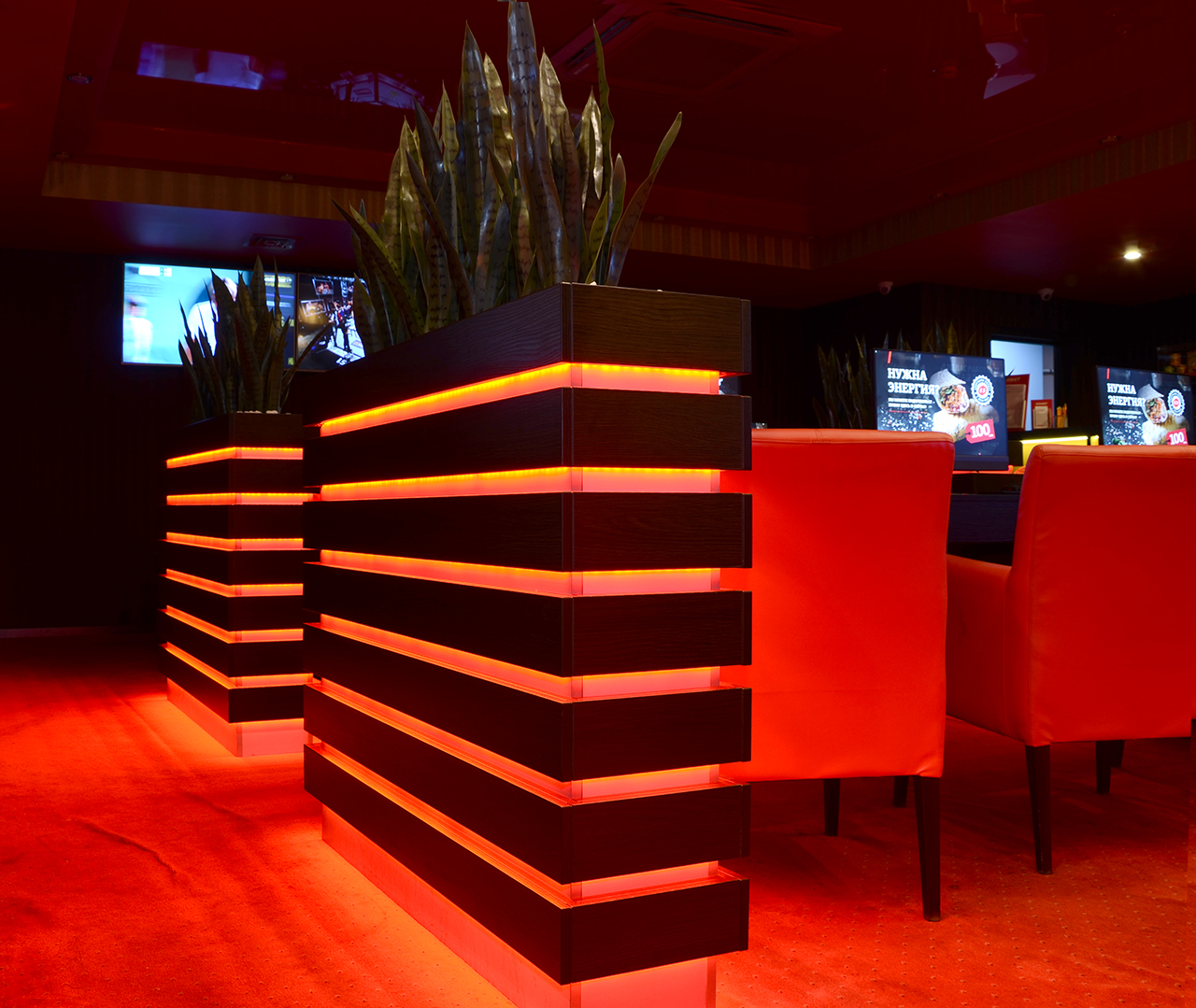 Мебель на заказ для сети клубов бкумекерской конторы Fonbet.