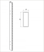 Штатив двухсторонний 80x30 с отверстиями для крепления балки