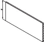 Стенка задняя для стеллажей: угловая внутренняя