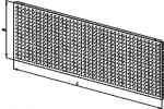 Стенка задняя для стеллажа, перфорированная