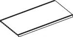 Полка с 2-мя желобами 2 ребра жесткости стандартная