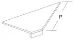 Полка базовая из ДСП угловая внутренняя (ДСП=16 мм)